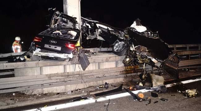 Audi RS6 de 560 de cai putere, făcut zob pe o autostradă din Germania; șoferul a murit pe loc!