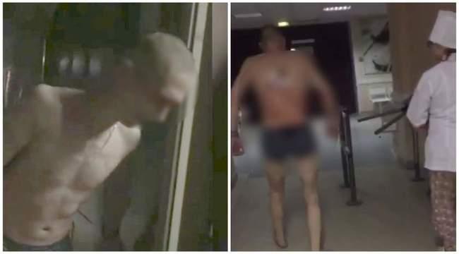 VIDEO: Șocant; pacient cu un cuţit în spate, iese din spital să fumeze o ţigară!