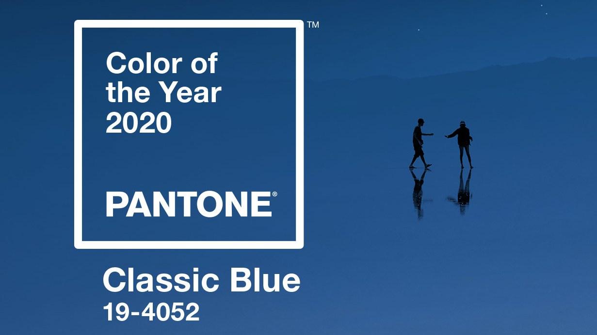 Albastru clasic, culoarea anului 2020