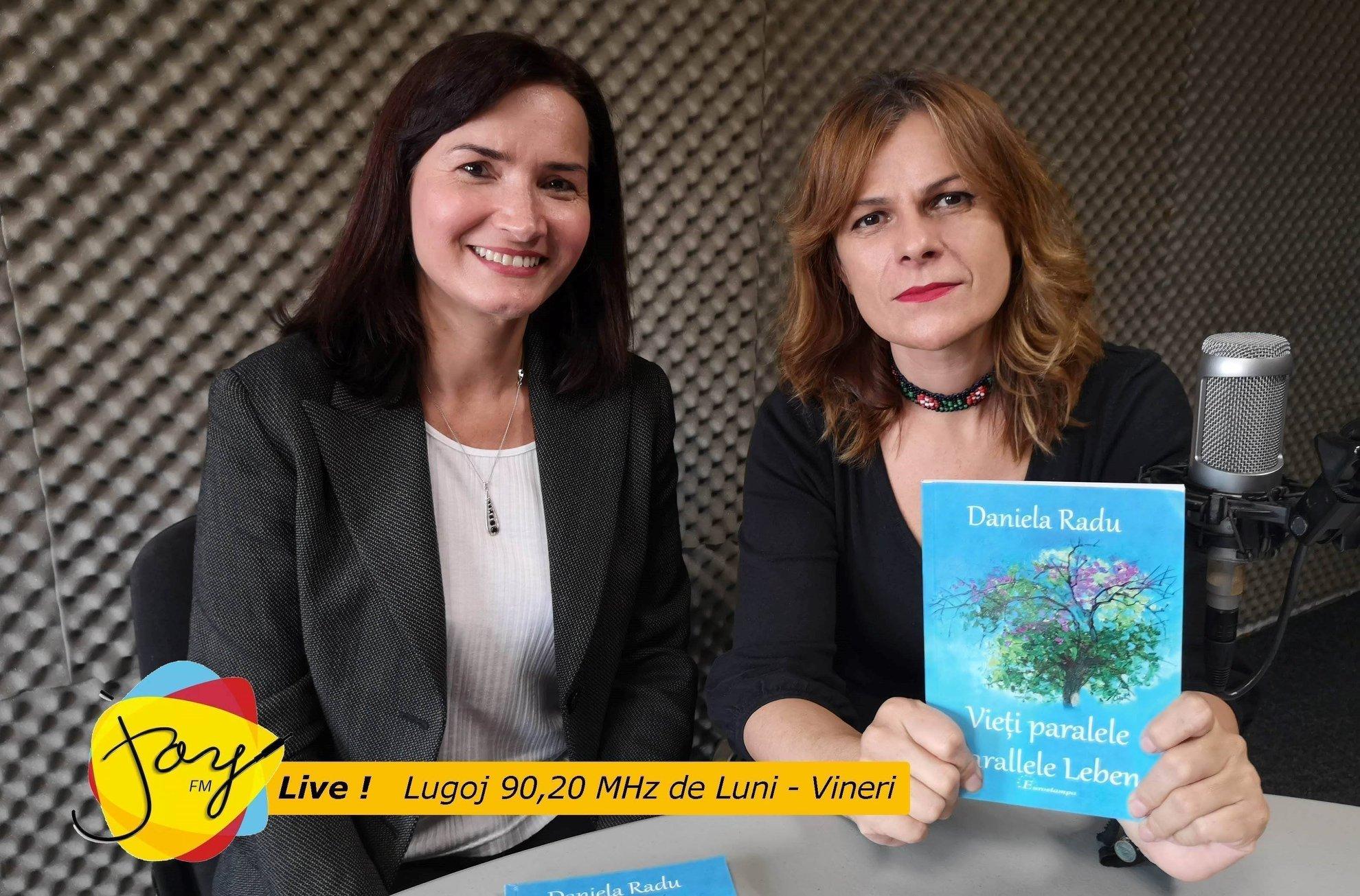 Invitată azi la Joy Live Daniela Radu despre volumul de poezii Vieți paralele/Parallele Leben