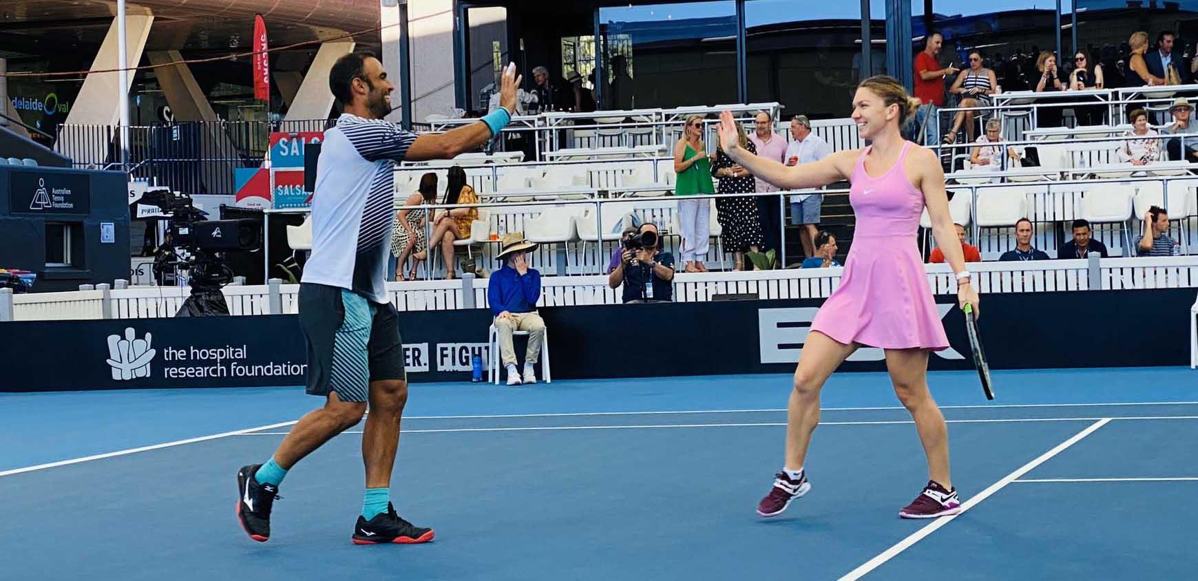 Simona Halep a disputat primul meci din acest an