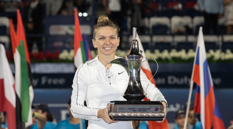 Simona Halep a câștigat al douăzecilea turneu, Dubai 2020