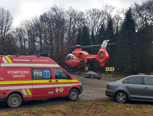 VIDEO – Accident cumplit la Coşevița, în Timiş. Un BMW a intrat într-un tir