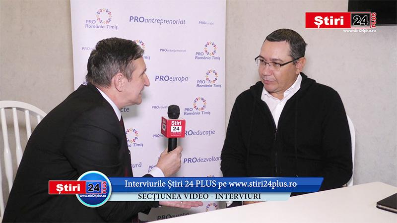 VICTOR PONTA – Interviu EXCLUSIV pentru Stiri 24 PLUS