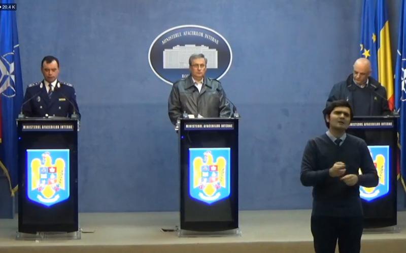 VIDEO – Declarații de presă la Ministerul de Interne. Noi măsuri pentru populație