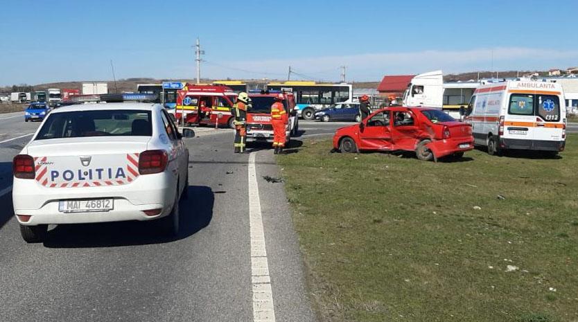 Accident pe centura ocolitoare a Lugojului din cauza neacordării de prioritate