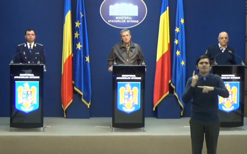 VIDEO – Ministrul de Interne, Marcel Vela, și secretarii de stat Bogdan Despescu și Raed Arafat declarație de presă la sediul MAI