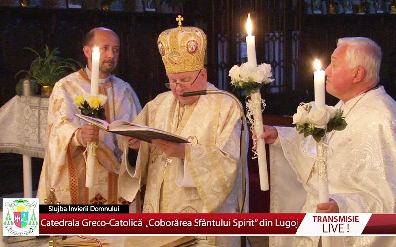 Slujba Învierii Domnului de la Catedrala Greco-Catolică din Lugoj 18.04.2020