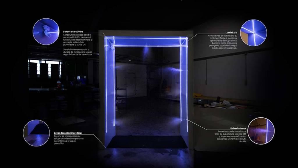 """VIDEO – Tunel dezinfectant pentru """"spitalul TBC"""" din Arad"""