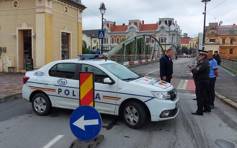 Circulaţia pe Podul de Fier din Lugoj a fost blocată