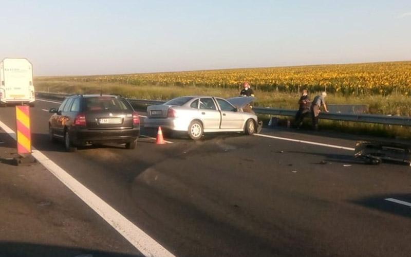 Accident pe autostrada A1, Timișoara-Lugoj pe sectorul unde se execută lucrări de reparații