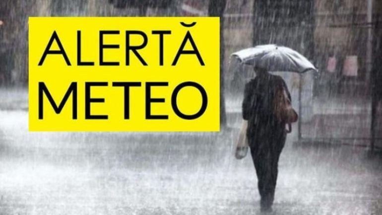 ALERTA ! Cod galben de ploi torențiale, vijelii și grindină în vestul ţării
