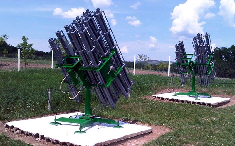 [VIDEO] Rachetele antigrindină au fost lansate împotriva unei furtuni în zona Lugoj