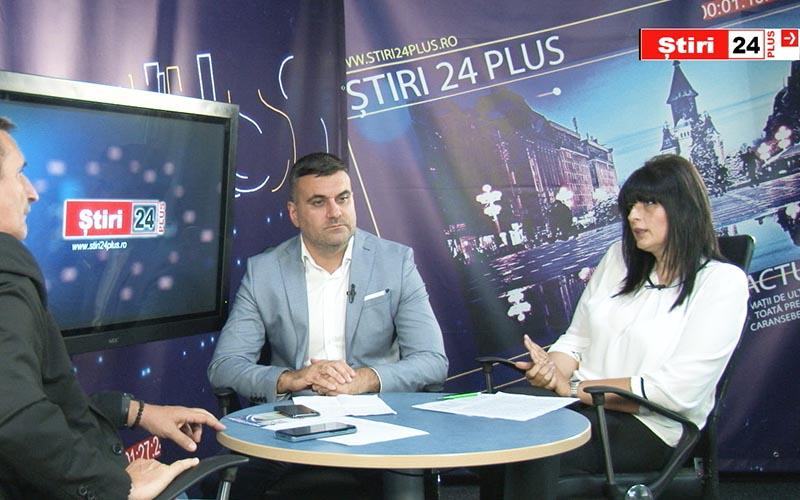 VIDEO-Interviu Știri24 PLUS cu Cristina Gîrbovan și Cristian Galescu, candidați PSD pentru Consiliul Local al Municipiului Lugoj