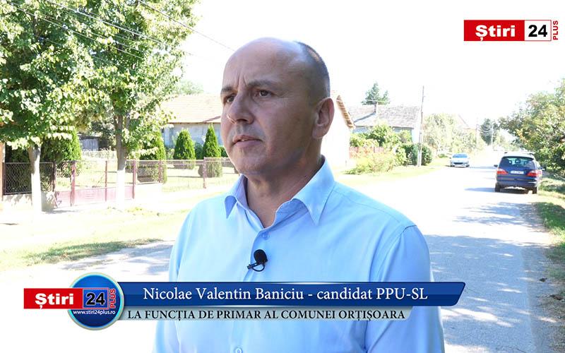 VIDEO Reportaj Știri24 PLUS cu Nicolae Baniciu – Candidat PPU-SL la funcția de Primar al Comunei Orțișoara