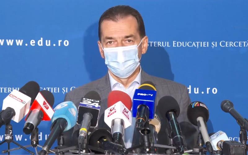 Ludovic Orban: Riscul de apariție a unor restricții crește odată cu majorarea numărului de persoane infectate zilnic