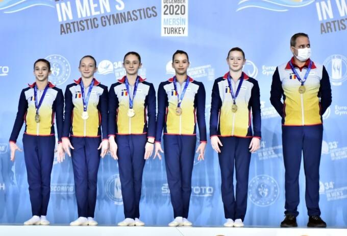 România, vicecampioana Europei la gimnastică feminină
