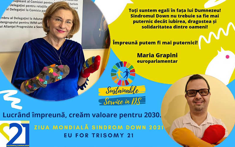 Europarlamentarul Maria Grapini, la Alexandria, alături de persoanele cu Sindromul Down