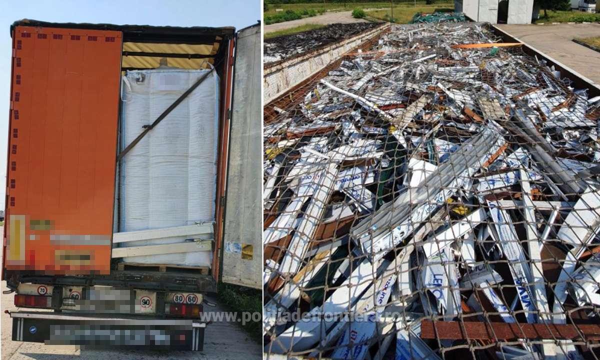 Tone de deșeuri au fost oprite miercuri în mai multe vămi din țară