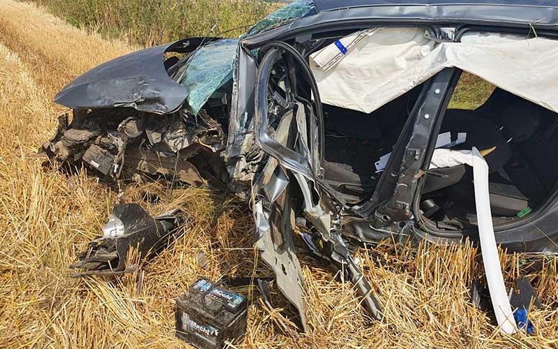[FOTO] Accident grav în apropiere de Sânnicolau Mare.