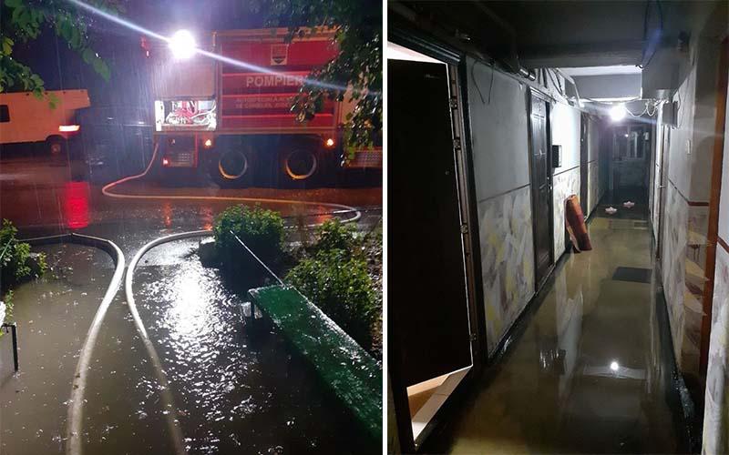 [FOTO] Inundații la Lugoj, după codul roșu de ploi.